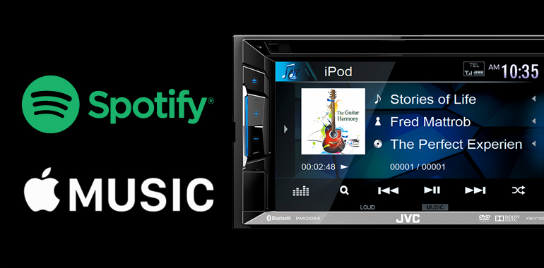 With Spotify® and Apple Music™, Streaming Internet Radio a Primary Focus of JVC Multimedia Receivers