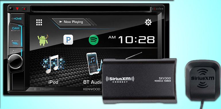 KENWOOD Includes SiriusXM® Satellite Radio Tuner in Multimedia Bundle