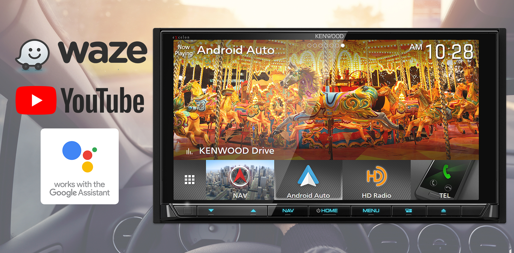 Wireless Android Auto™, Waze™, Google Assistant™ Come to KENWOOD