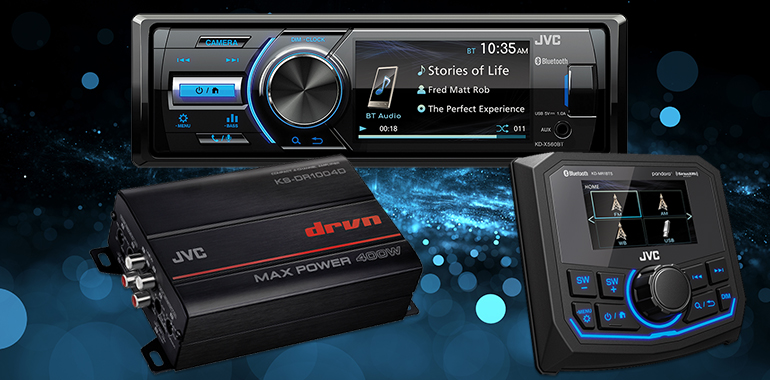 JVC Mobile Entertainment Expands Motorsports Line With Camera-Enabled Receivers, New Amplifier