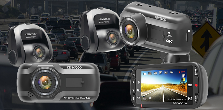 KENWOOD Ships Next-Generation Trio of Dash Cams